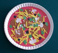 Paper plate pizza (would hve been perfect for this week since we are working on the letter P)