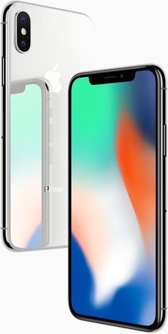 iPhone X Silver Back and Space Grey Front Apple