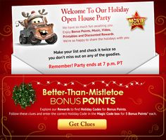 Disney Movie Rewards' Holiday Open House points:  Devices Fairies Phones Brittos Delta