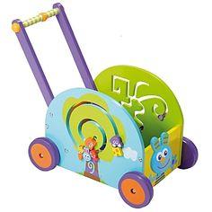 Push & Play Wooden Rabbit Wagon