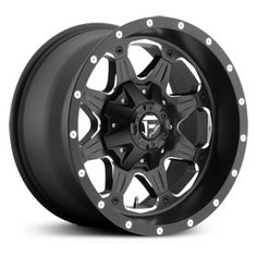 Fuel Boost D534, matte black and milled rims & wheels