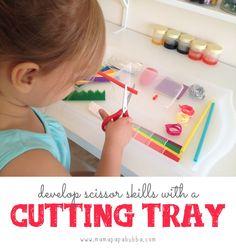 Developing Scissor Skills with a Cutting Tray ‹ Mama. Papa. Bubba.Mama. Papa. Bubba.