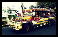 The most authentic way to move around in the Philippines is to hop on to a Jeepney with the locals. These vibrant vehicles with their kitsch decorations are modifications of the US Army Jeeps that were left behind after World War II. #itsmorefuninthephilippines #travel #local
