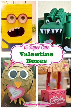 Looking for some great ideas for this year's Valentine Box?  Your kids will love taking any of these cute boxes to school for Valentine's Day!