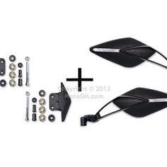 Retroviseur homologué Far Viper 8 + bouchon en plastic pour T-MAX 530 12- (1 paire)