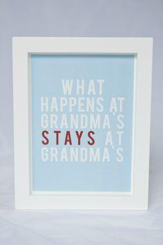 Framed Grandma Quote Wall Art http://felt.co.nz/listing/119037/Framed-Grandma-Quote-Wall-Art