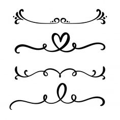 Separadores e separadores elegantes da l. Lettering Tutorial, Hand Lettering, Diy Valentine's Pillows, Nature Symbols, Hand Tattoos For Girls, Bullet Journal Banner, Decorative Lines, Cute Journals, Art Therapy Activities