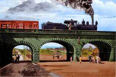 Federico F. OrozcoFerrocarriles de Centroamérica 10 de septiembre ·     Locomotora numero 17 del Guatemala Central Rail Road, sobre el Puente de La Reporma o de la Penitenciaria o de la Septima dependiendo de la epoca, jejeje a principios de 1900 en la Ciudad de Guatemala
