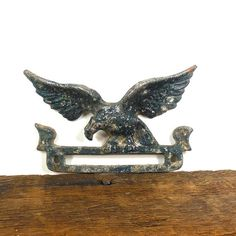 Vintage Weathered Metal Eagle by OldRedHenVintage on Etsy
