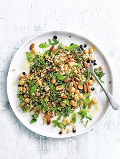 cumin-roasted cauliflower, chickpea and mint tabouli from donna hay Fresh + Light issue #4