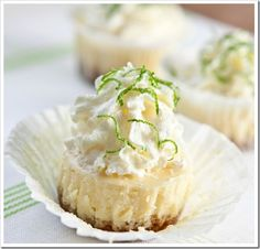 Key Lime Cheesecake Minis with Macadamia Graham Cracker Crusts | Sticky, Gooey, Creamy, Chewy | A Blog About Food with a Little Life Stirred In