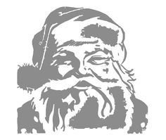 Santa Claus Christmas Custom Vinyl Wall Decal - would look great on canvas. by WelcomingWalls, $12.00 on Etsy