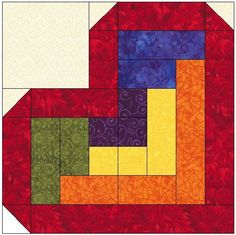 Log Cabin Heart Quilt Block Pattern : 1000+ images about Quilts 101 on Pinterest Heart quilts, Quilt patterns and Quilt blocks
