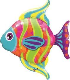 "43"" Fashionable Fish Jumbo Packaged Mylar Balloon"
