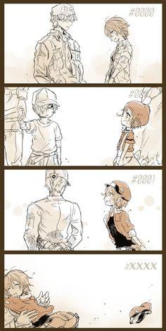 wbc x rbc \ wbc x rbc ` wbc x rbc lemon ` wbc x rbc comic ` wbc x rbc cells at work Anime Meme, Me Anime, Anime Couples Manga, Fanarts Anime, Cute Anime Couples, Otaku Anime, Manga Anime, Anime Art, Anime Snow