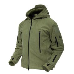 Amazon.com: MAGCOMSEN Men 's Windproof Warm Military Tactical Fleece Jacket: Clothing