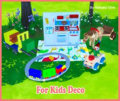 For Kids Deco Conversion by Nathalia Sims. Sims For Kids, Sims 4 Toddler, 4 Kids, Toddler Toys, Baby Toys, Toddler Stuff, The Sims 4 Bebes, Around The Sims 4, Sims 4 Cc Packs
