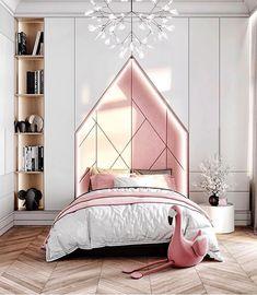 Beautiful Bedroom For Little Girls Yatak Odası – Home Decoration Girls Bedroom, Trendy Bedroom, Girl Room, Bedroom Decor, Modern Girls Rooms, Kids Bedroom Designs, Kids Room Design, Deco Kids, Apartment Interior Design