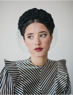 Cherubina #hats #millinery Headband Veil, Vintage Veils, Royal Life, Millinery Hats, Bandeau, Headdress, Timeless Fashion, Hair Accessories, Fashion Outfits