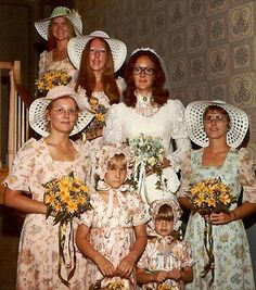 God Bless the 70's.... More Bad Wedding Pics wedding dresses