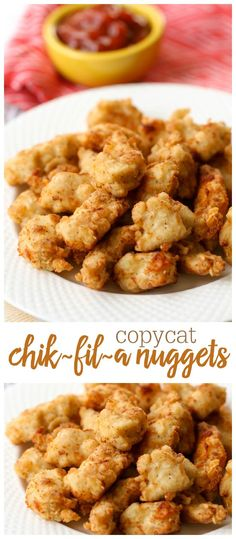 Chick Fil A Nuggets Copycat Chik-Fil-A nuggets - these are so good and taste just like the real thing!Copycat Chik-Fil-A nuggets - these are so good and taste just like the real thing! Copycat Recipes, New Recipes, Dinner Recipes, Cooking Recipes, Favorite Recipes, Recipies, Carrot Recipes, Lentil Recipes, Dessert Recipes