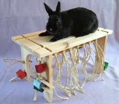 Regular Size Rabbit Play Table - Pet Toy - Activity Sisal Chew Play Centre -  Handmade and Safe