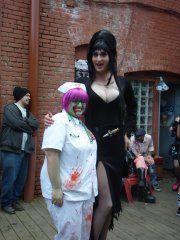 "Me as a Zombie Nurse with ""Elvira"", Zombie Walk 11'"