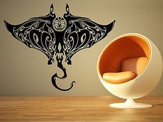 Wall Room Decor Art Vinyl Sticker Mural Decal Manta Stingray Big Large AS948