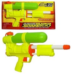 Super Soakers!!!  One of the best 90's toys!  I want to buy one!  Hope they still sell them!