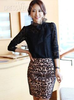 US$23.99 Classy Slim Fake Two Pieces Long Sleeves Lace Dress. #Lace #Fake #Long #Pieces