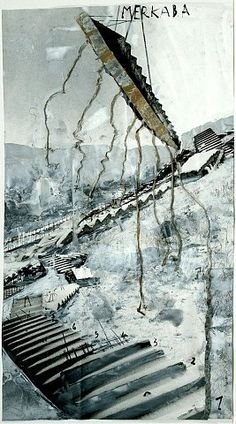 (Anselm Kiefer) When ever I am stressed or challenged, I dream I am trying to maneuver tricky stairs. Sometimes they crumble below me, sometimes I can't pull my own weight up, sometimes I am determined to conquer them no matter what.... It's all very symbolic of how I am handling challenges.... SM