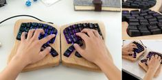 Butterfly #Keyboard Makes Typing a Customizable Breeze: The keyboard scales down the size of a typical keyboard by cutting it in half, making all keys reachable by either hand.