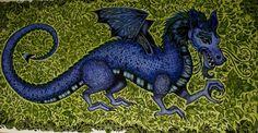 Johanna Basford /Enchanted Forest Dragon/ Picture by Gyöngyi Varga.