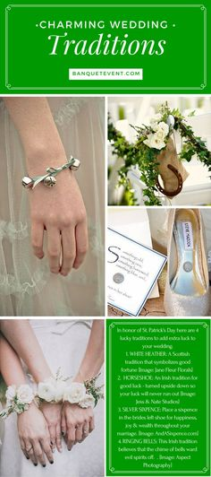 In honor of St Patrick's Day, here are 4 lucky charming wedding traditions sure to add extra luck to your special day