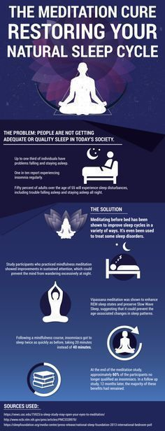 Insomnia cure, restoring your natural sleep cycle with meditating before bed. #naturalinsomniacures