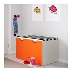 IKEA - STUVA, Storage bench, white/blue, , Low storage makes it easier for…