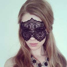 Mysterious Black Lace Mask  Masquerade Ball Lace di MSaHeadbands, $25.00