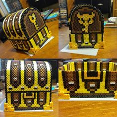3D Zelda chest perler beads by finalajea