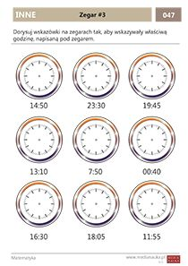 Matematyka - klasa - 3 - Matematyczna Wyspa - Medianauka.pl Clock, Watch, Clocks