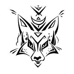 Tribal pattern Fox. Polynesian tattoo style. Vector illustration vector illustration Polynesian Tattoo Sleeve, Polynesian Tattoo Designs, Sleeve Tattoos, Illustration Vector, Vector Art, Half Sleeve Tattoo Template, Border Tattoo, Wrist Band Tattoo, Tribal Sleeve
