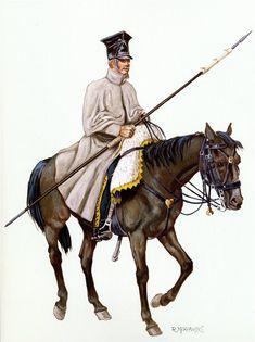 """Ulano del 7 rgt. """"cloak-shineli"""" della legione della Vistula"""