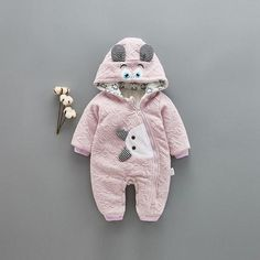 M&A Baby Boy Girl Clothes - Long Sleeve Hoodies Autumn Winter Warm Romper Jumpsuit Outfit Cute Baby Girl Outfits, Baby Girl Romper, Baby Outfits Newborn, Baby Boy Newborn, Cute Baby Clothes, Baby Girl Dresses, Kids Outfits, Baby Girl Fashion, Kids Fashion