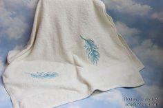 Купить Пёрушки . Комплект полотенец. - полотенце с вышивкой, красивое полотенце, полотенце в подарок, новогодний подарок