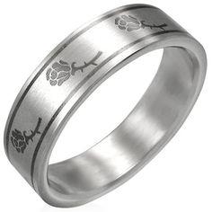 Rozen dames ring edelstaal B095 - Ringmaat 16