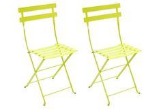 Verbena Bistro Metal Chairs, Pair