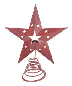 Look what I found on #zulily! Barn Red Star Tree Topper #zulilyfinds