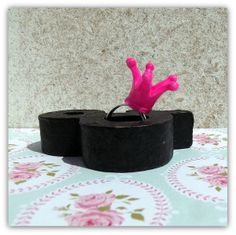 Kroon ring, fel roze van Het Huis van Makers op DaWanda.com