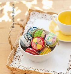 Macaron Coin Purse - A Spoonful of Sugar Macaron Coin Purse, Coin Purse Tutorial, Sewing Magazines, Crochet Bikini Pattern, Baby Quilt Patterns, Japanese Sewing, Gingham Fabric, Fabric Scraps, Scrap Fabric