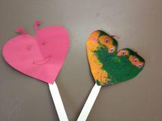 love bug puppets...valentines day kids craft