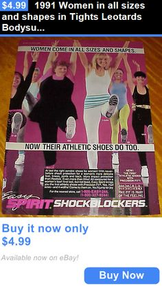 Women All Shapes And Sizes: 1991 Women In All Sizes And Shapes In Tights Leotards Bodysuits Ad #062216 BUY IT NOW ONLY: $4.99